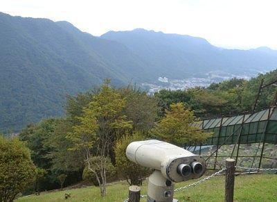 望遠鏡と景色