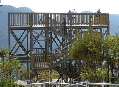 丸山山頂展望台からの眺め