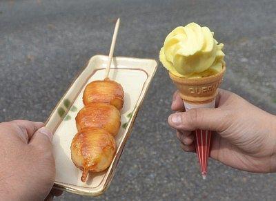 ダンゴとソフトクリーム