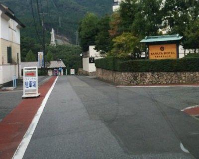 鬼怒川金谷ホテル前の道路