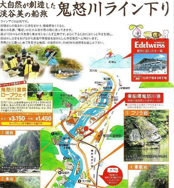 鬼怒川ライン下りマップ1