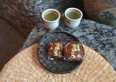 梅抹茶と温泉饅頭