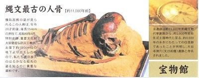 縄文最古の人骨