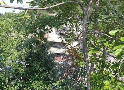 平和観音展望台から大谷寺を見た場合