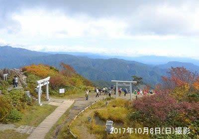 神社がある山頂の様子