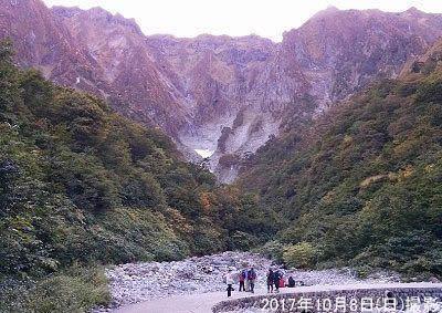 一ノ倉沢の雄大な景色