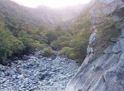 マチガ沢の景色