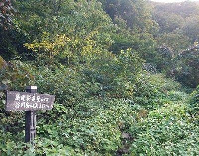巌剛新道登山道