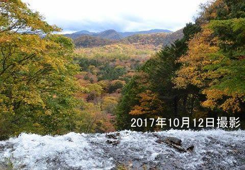湯滝滝上からの眺め