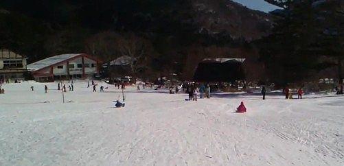日光湯元スキー場の様子