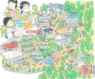 ジャパンスネークセンター園内マップ