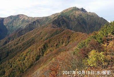 谷川岳山頂の景色