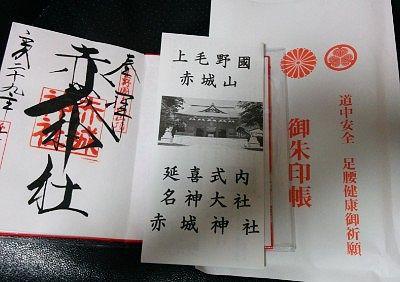赤城神社オリジナル十二単御朱印帳に御朱印と小冊子